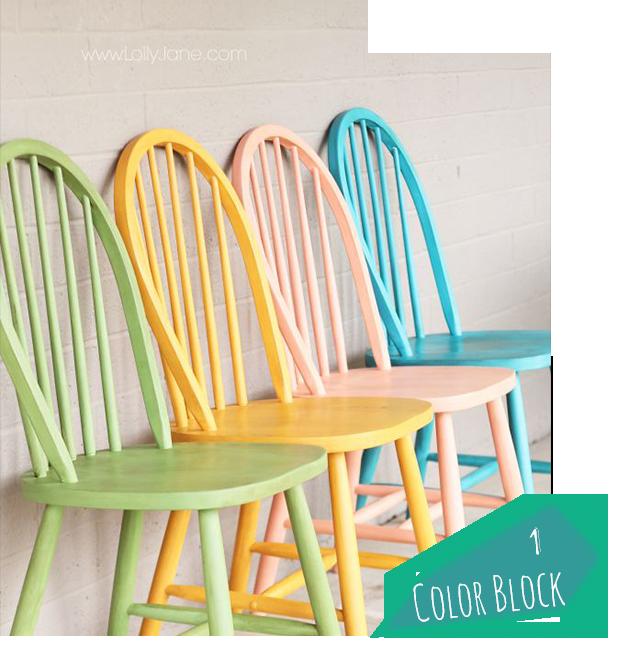 d co 10 id es diy pour relooker chaises et tabourets justagirl. Black Bedroom Furniture Sets. Home Design Ideas