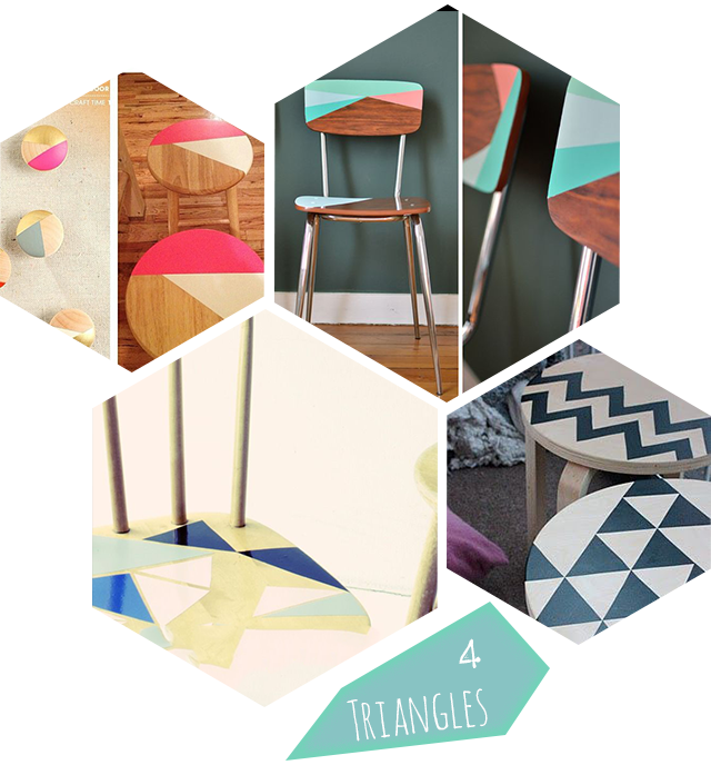 D co 10 id es diy pour relooker chaises et tabourets - Peindre des chaises en bois ...
